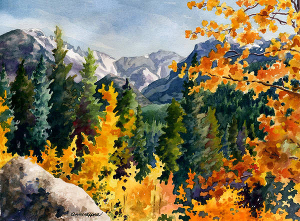 Wall Art - Painting - Rocky Mountain National Park by Anne Gifford