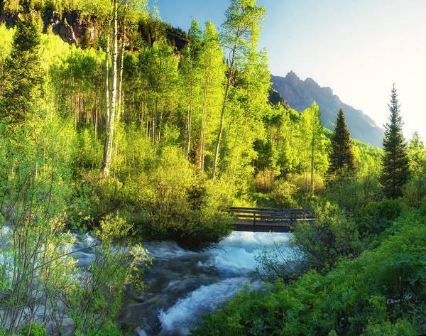 Photograph - Rocky Mountain River by OLena Art - Lena Owens