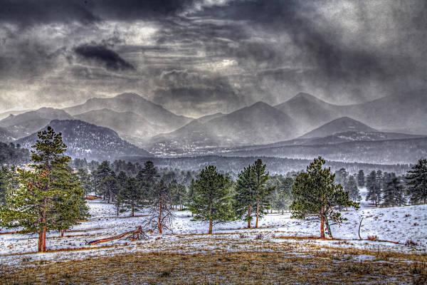 Rocky Mountain Snow Storm Estes Park Colorado Art Print
