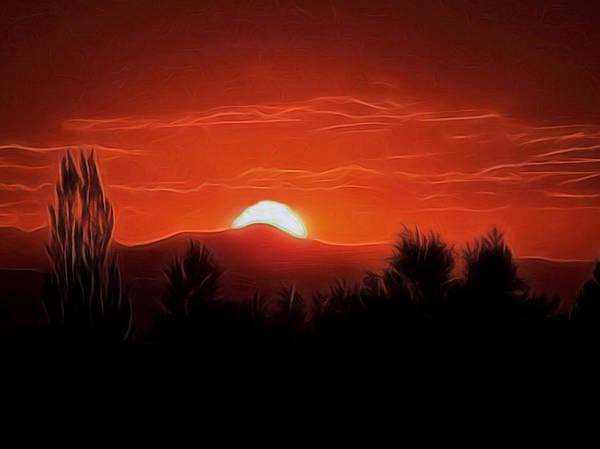 Rocky Mountain Digital Art - Rocky Mountain Sunset Digital Art by Ernie Echols