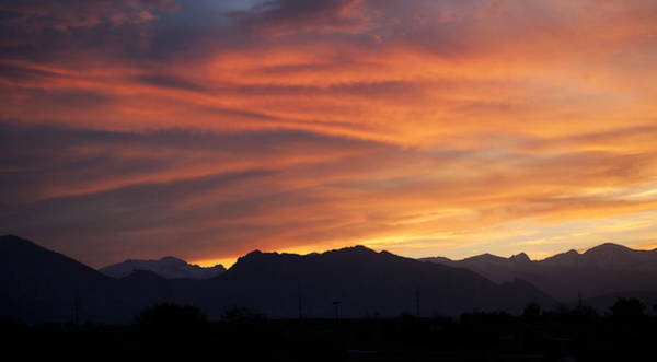 Photograph - Rocky Mountain Sunset by Marilyn Hunt
