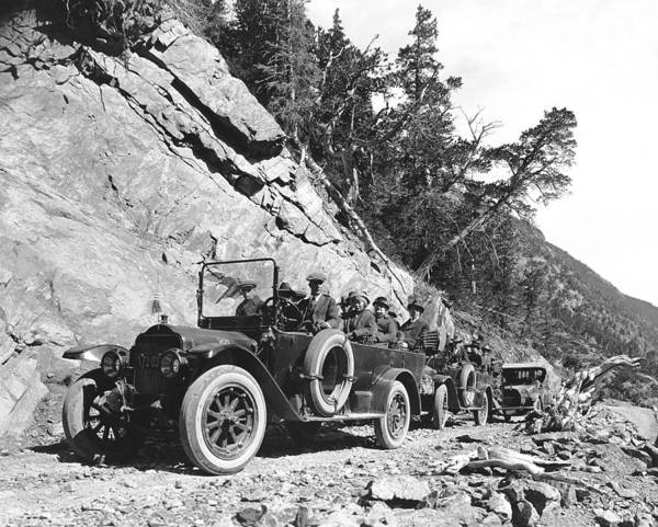 State Of Colorado Photograph - Rocky Mountain Touring Cars by Underwood Archives