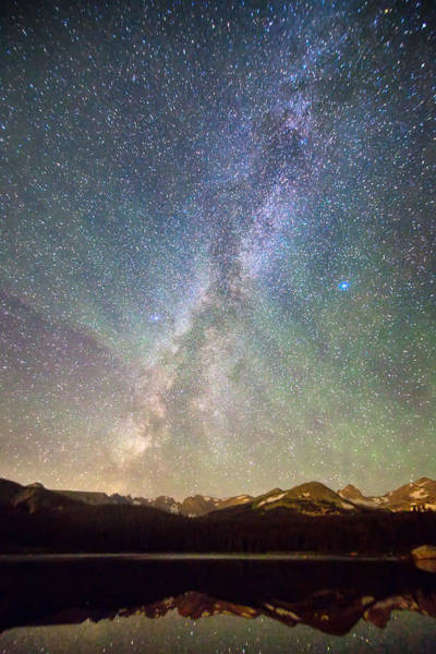 Kiowa Photograph - Rocky Mountains Indian Peaks Milky Way Rising by James BO Insogna