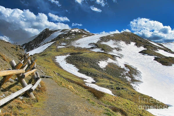 Elevation Photograph - Rocky Mountains Path by Olivier Le Queinec