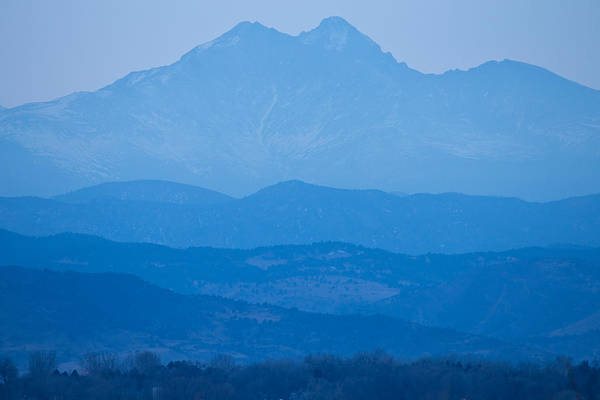 Photograph - Rocky Mountains Twin Peaks Blue Haze Layers by James BO Insogna
