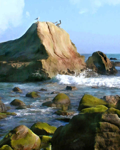 West Point Painting - Rocky Ocean Coast by Elaine Plesser