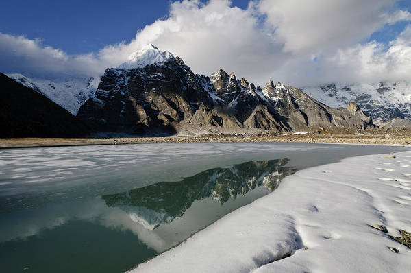 Gokyo Photograph - Rocky Peaks Rising Beyond Partially by Grant Dixon