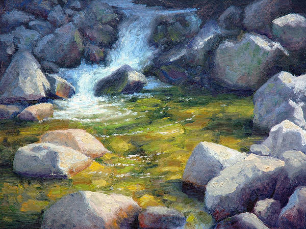 Pool Painting - Rocky Pool by Armand Cabrera