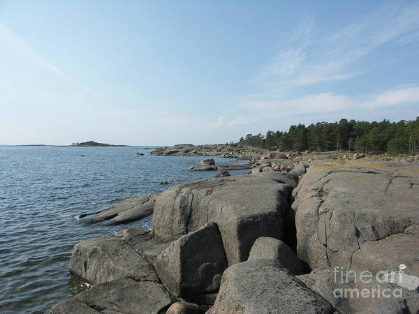 Rocky Seashore 2 In Hamina  Art Print