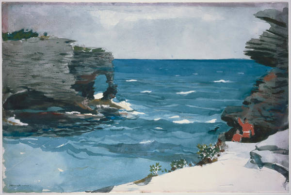 Wall Art - Painting - Rocky Shore Bermuda by Winslow Homer