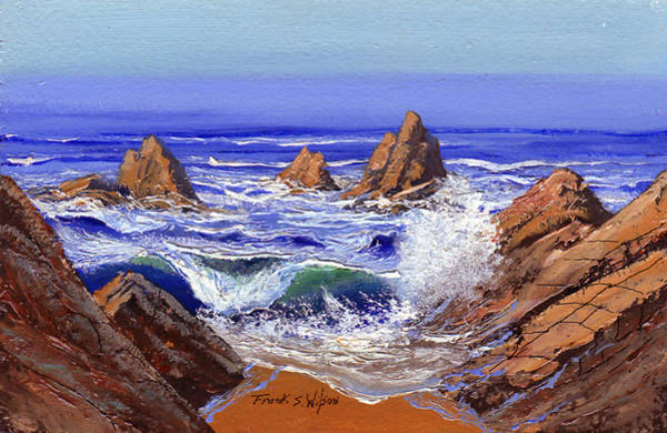 Painting - Rocky Shore by Frank Wilson