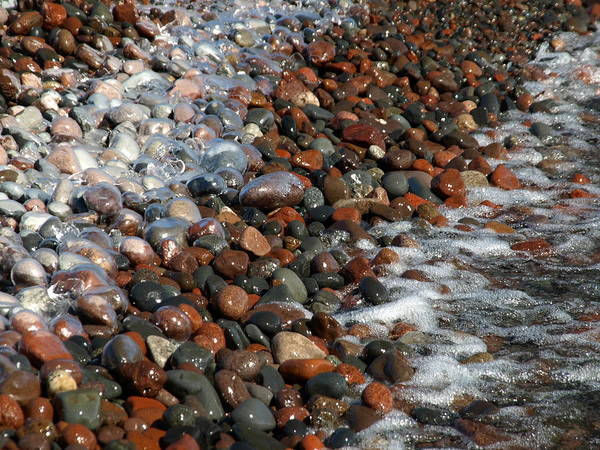 Photograph - Rocky Shoreline Abstract by James Peterson