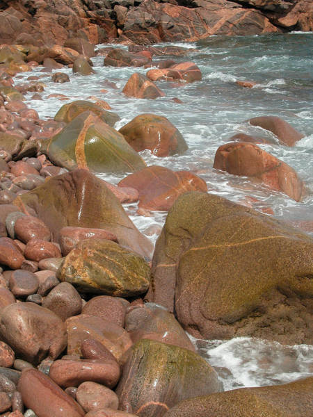 Photograph - Rocky Shoreline. Cape Breton. Nova Scotia. by Rob Huntley