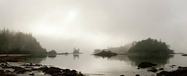 Vancouver Island Photograph - Rocky Shoreline On Foggy Morning by Stuart Mccall