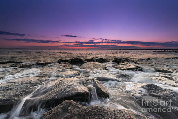 Southern Rock Photograph - Rocky Sunset At Cape May by Michael Ver Sprill