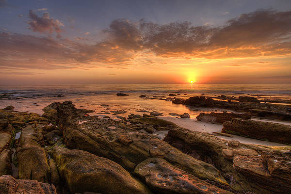 High Dynamic Range Photograph - Rocky Sunset by Peter Tellone