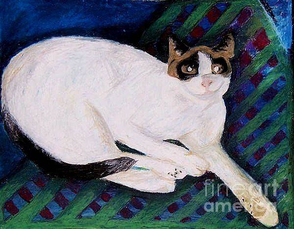 Pastel - Rocky The Cat by Jon Kittleson