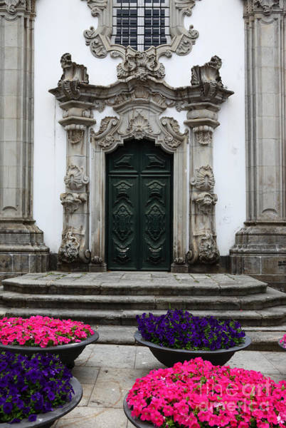 Photograph - Rococo Doorway Portugal by James Brunker