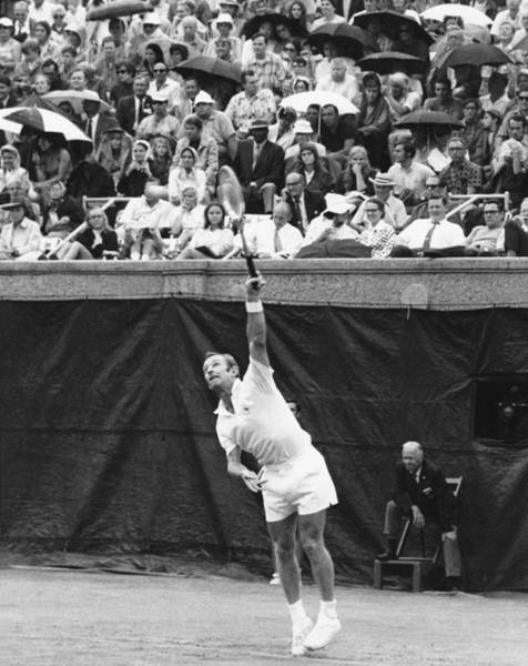 Wall Art - Photograph - Rod Laver Tennis Serve by Underwood Archives