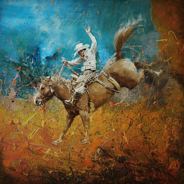 Las Vegas Nevada Painting - Rodeo 001 by Corporate Art Task Force