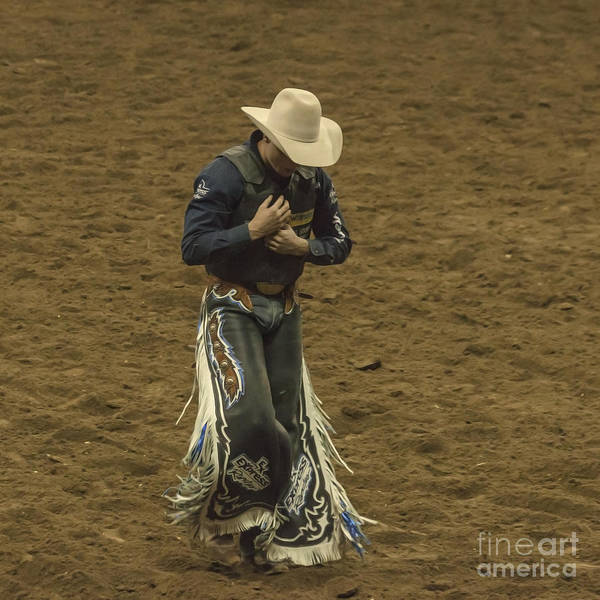 Prca Wall Art - Photograph - Rodeo Cowboy Dusting Off by Janice Pariza