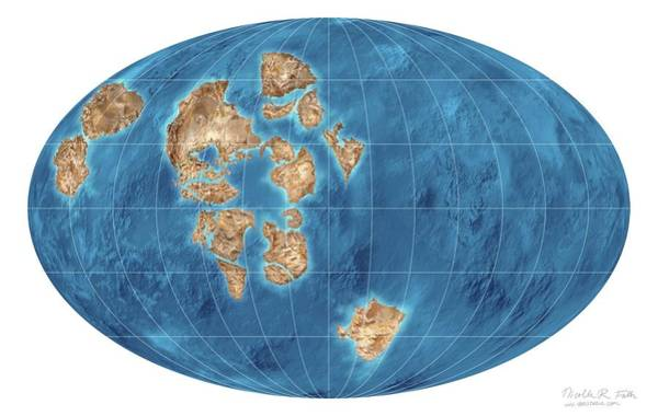 Prehistory Photograph - Rodinia Supercontinent by Nicolle R. Fuller/science Photo Library