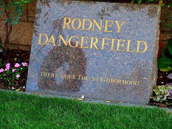 Photograph - Rodney Dangerfield Grave Marker by Jeff Lowe