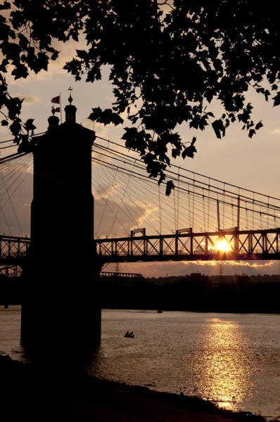 Photograph - Roebling Silhouette by Russell Todd