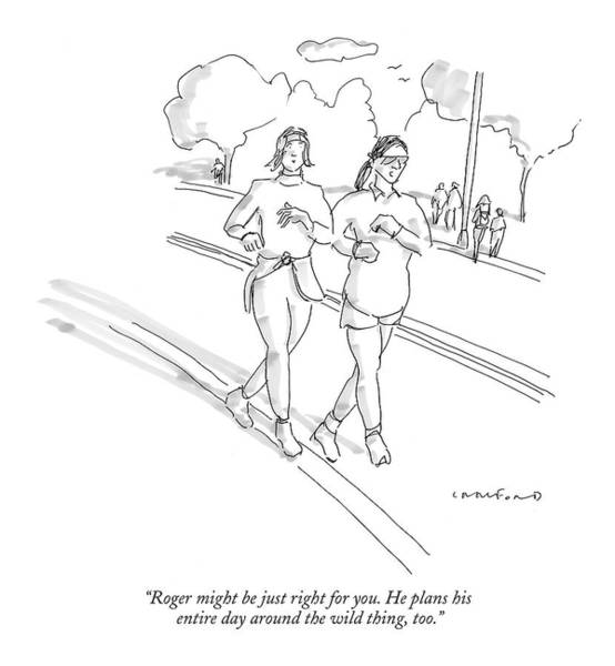 Plan Drawing - Roger Might Be Just Right For You. He Plans by Michael Crawford