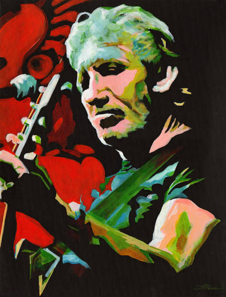 Pink Floyd Painting - Roger Waters. Breaking The Wall  by Tanya Filichkin