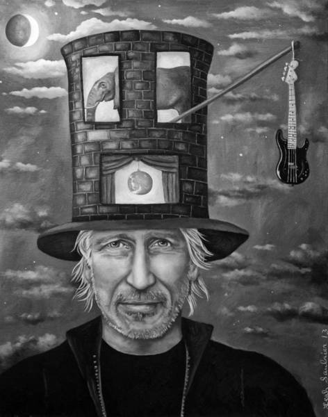 Pink Floyd Painting - Roger Waters Bw by Leah Saulnier The Painting Maniac