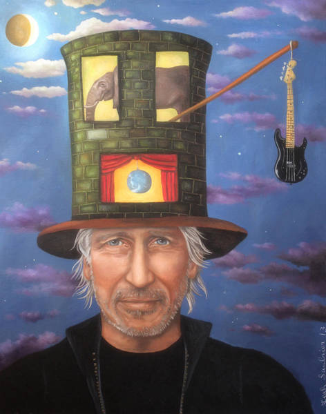 Pink Floyd Painting - Roger Waters Edit 3 by Leah Saulnier The Painting Maniac