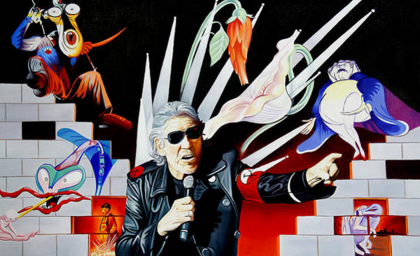 Pink Floyd Painting - Roger Waters-the Wall by Joshua Morton