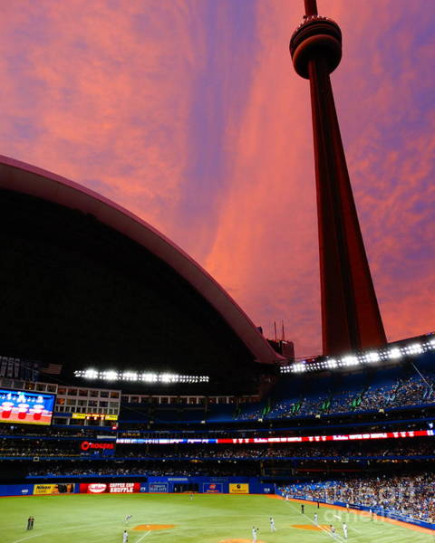 Toronto Blue Jays Photograph - Rogers Centre Sunset by Mike Mihalik