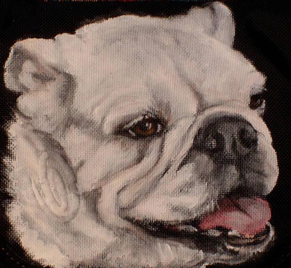 English Bulldog Painting - Rogie by Carol Russell