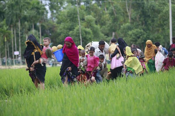 Rohingya Muslims Flee Violence In Myanmar Art Print by Suvra Kanti Das