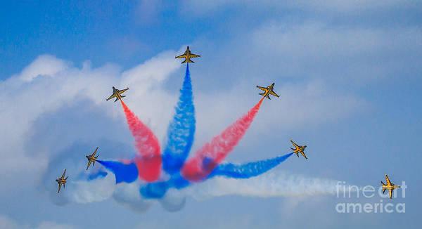 Photograph - Rokaf Aerobatic Team by Ray Shiu