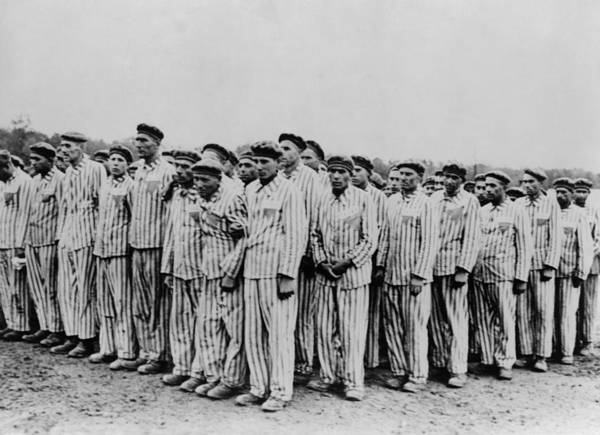 Concentration Camp Photograph - Roll Call At Buchenwald Concentration by Everett
