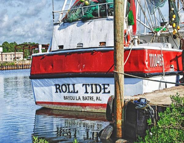 Shrimp Boat Wall Art - Photograph - Roll Tide Stern by Michael Thomas