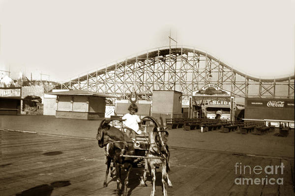 Photograph - Roller Coaster Santa Cruz California Circa 1912 by California Views Archives Mr Pat Hathaway Archives