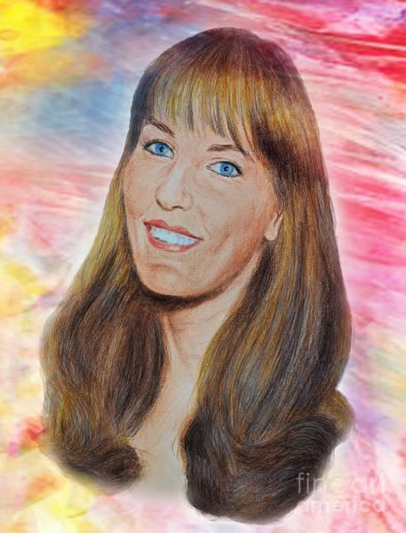 Wall Art - Digital Art - Roller Derby Star Lovely Barbara Baker by Jim Fitzpatrick