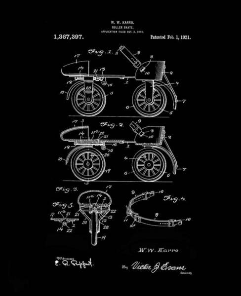 Digital Art - Roller Skates 1820 Karro Inverted by Lesa Fine