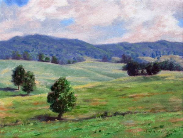Wall Art - Painting - Rolling Hills by Bonnie Mason