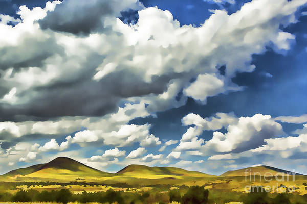 Flagstaff Painting - Rolling Hills Watercolor by Nicholas  Pappagallo Jr