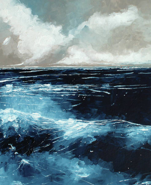Skyscape Painting - Rolling Sea by Stuart Roy
