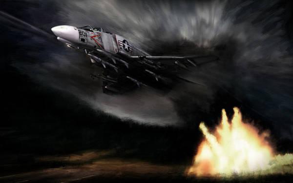 Phantom Digital Art - Rolling Thunder by Peter Chilelli