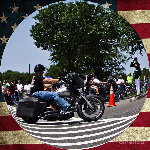 Wall Art - Photograph - Rolling Thunder Salute by Tom Gari Gallery-Three-Photography