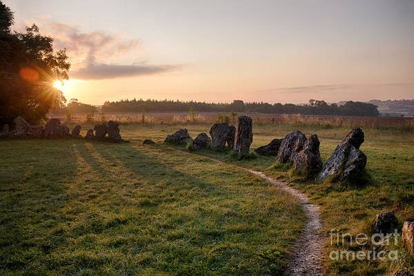 Druid Wall Art - Photograph - Sun Rising Over Rollright Stones  by Tim Gainey
