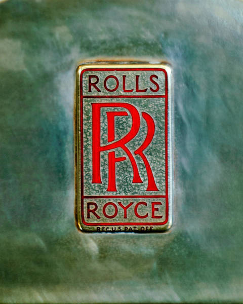 Wall Art - Photograph - Rolls-royce Emblem -1801c by Jill Reger
