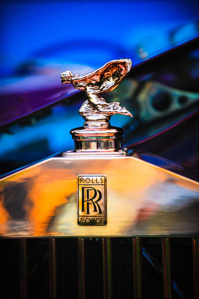 Photograph - Rolls-royce Hood Ornament - Emblem -1068c by Jill Reger